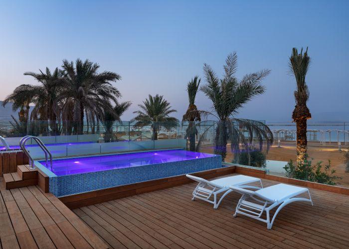 premium plus with pool - sea view, Milos, Мертвое море, Израиль